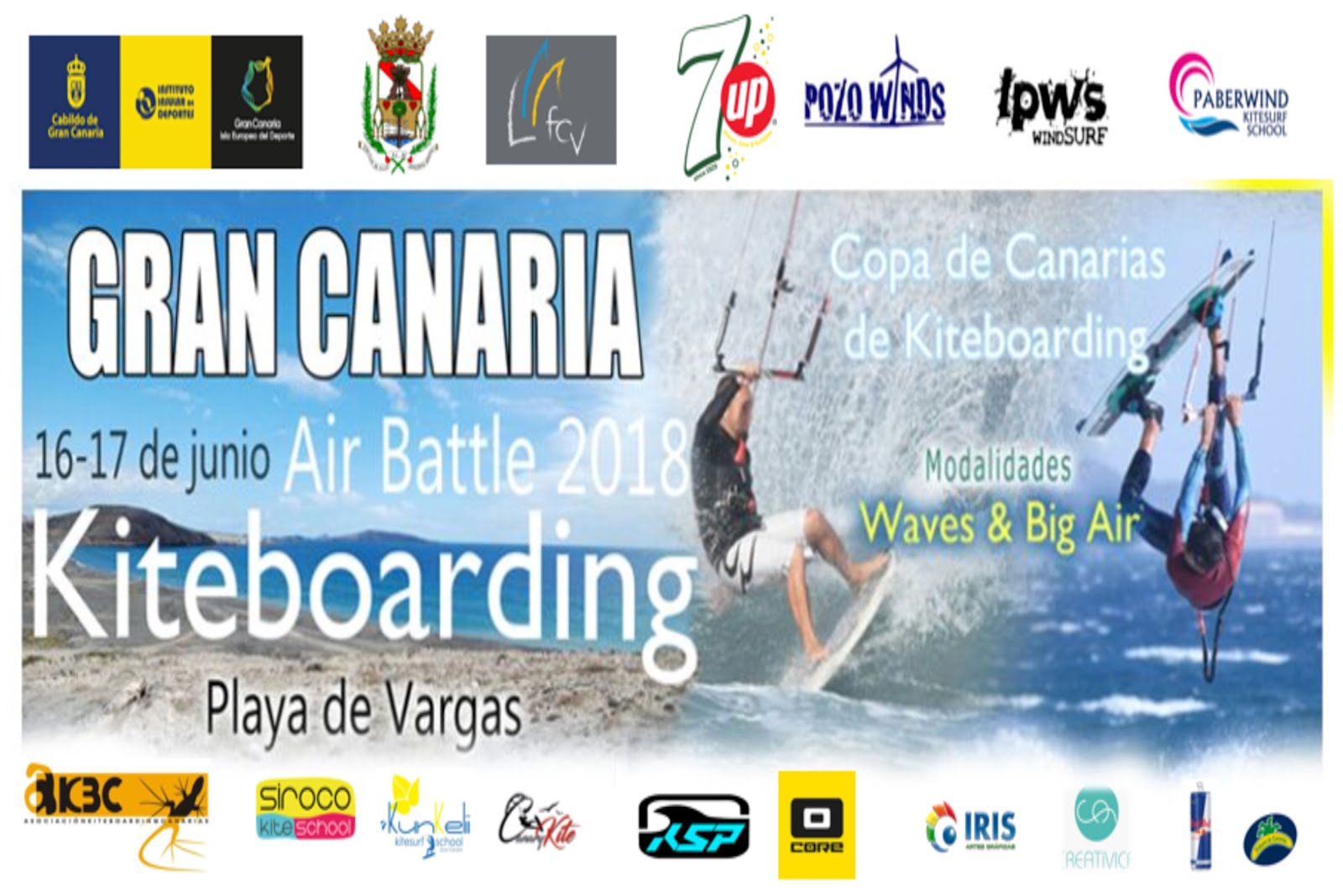 Copa de Canarias de Kiteboarding Air Battle 2018 Playa de Vargas