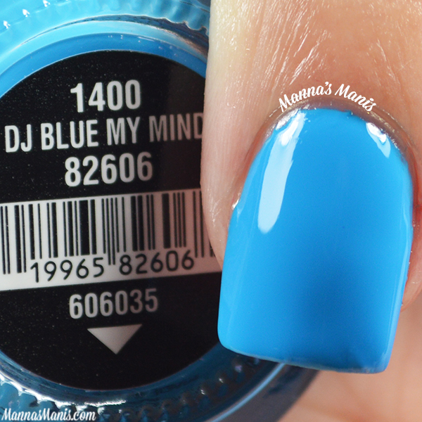 China Glaze Electric Nights DJ Blue My Mind swatches