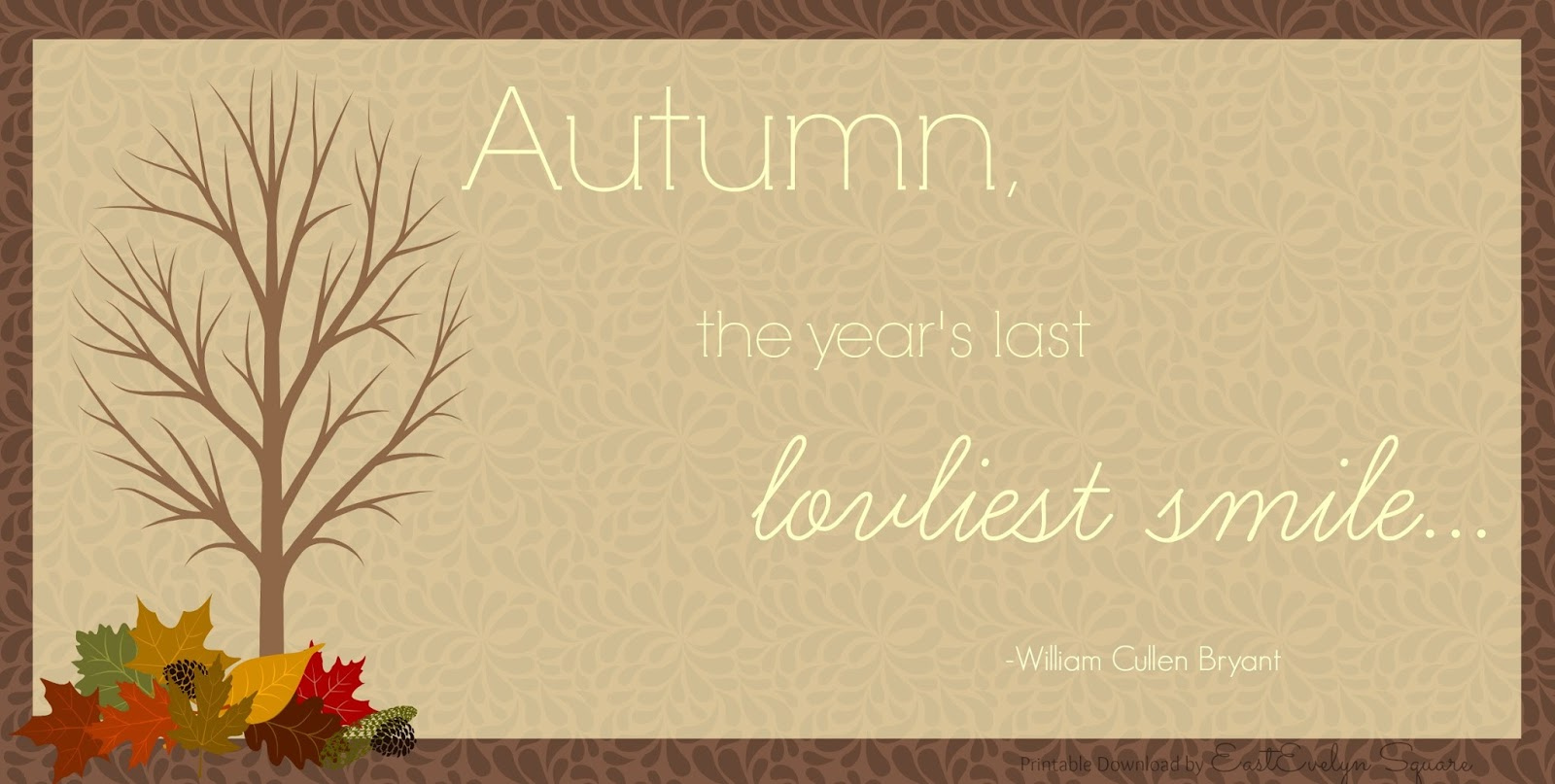 Fall is in the Air... #Free #Fall #Printable / #Download from EastEvelyn Square  For more free downloads go to: EastEvelynSquare.blogspot.com