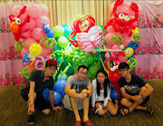 Today we went to do Balloon Decoration for a Mermaid Theme Party