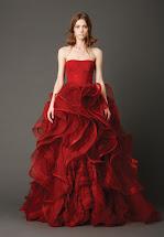 Vera Wang Red Wedding Dress
