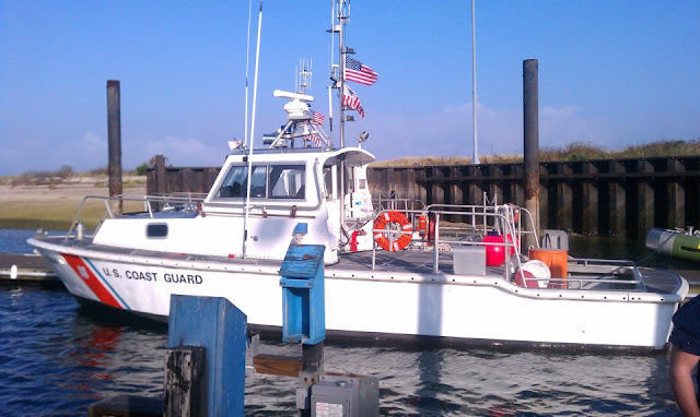 41 foot UTB at Station Eatons Neck. USCG Aux photo by Bob Daraio