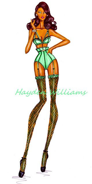 hayden williams fashion illustrator lingerie sketch fashion drawing