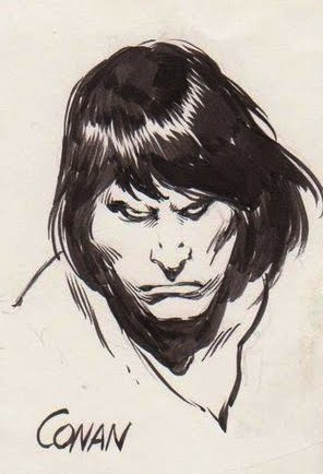 John Buscema Sketches http://ultimateconanfan.blogspot.com/2012/03/john-buscema-lost-drawings-part-2.html