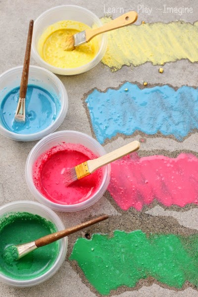 NEW recipe for sidewalk chalk paint - cornstarch free!