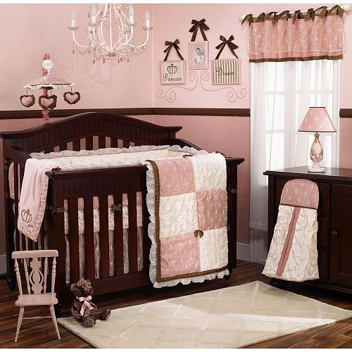 Habitaciones de beb en chocolate y rosa dormitorios con for Cuartos de nina recien nacida