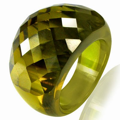 loose olive cubic zirconia ring