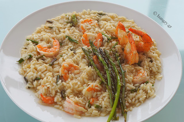 Risotto Shrimp and Wild Asparagus