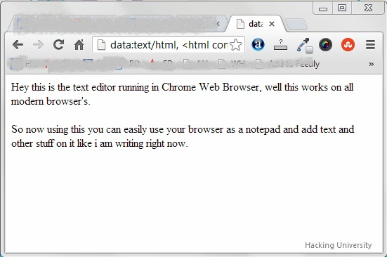 Web Browser as Text Editor