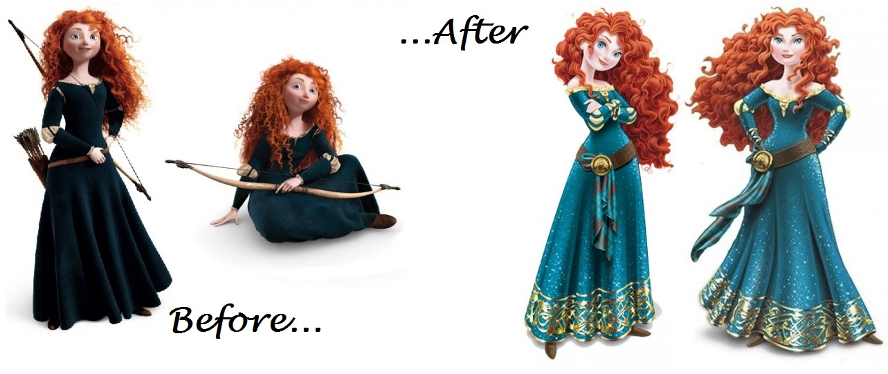 Idle Hands: Merida's Princess Makeover Sparks Controversy