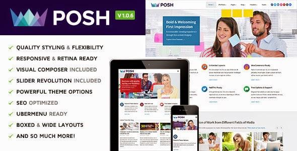 Posh v1.0.5 – Responsive Multi-Purpose WordPress Theme
