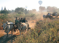 Bagan Travel by Ox Cart