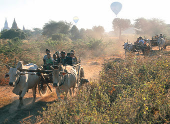Bagan Travel by Ox Cart