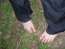Girl Barefoot Woods