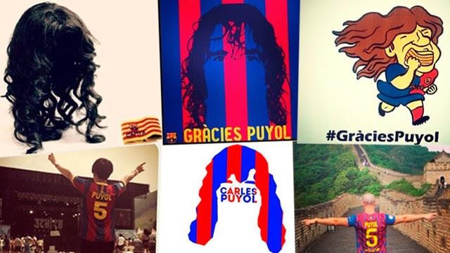 #GraciesPuyol el homenaje de los hinchas del Barcelona en redes sociales