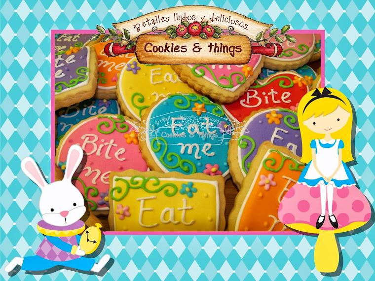 Alicia en el pais de las maravillas galletas