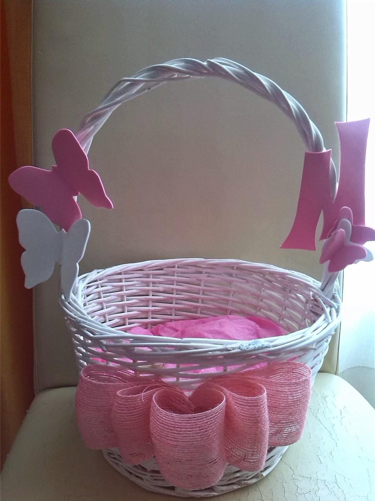 Mis sutilezas cestas de mimbre - Como adornar una cesta de mimbre ...