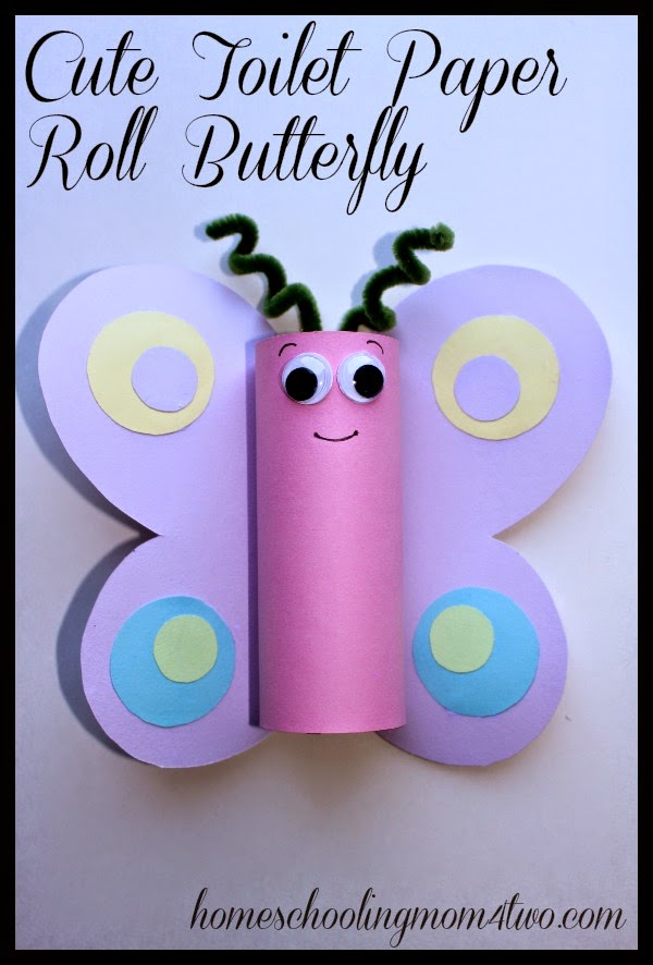 Toilet Paper Roll Butterfly Kids Craft