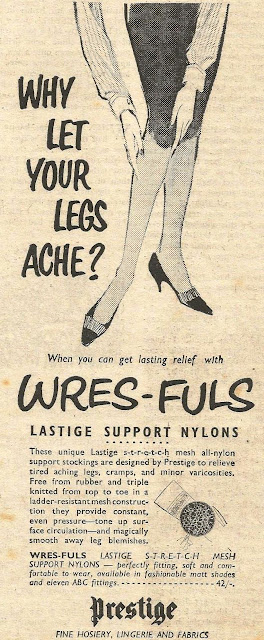 vintage 1950s stocking ad