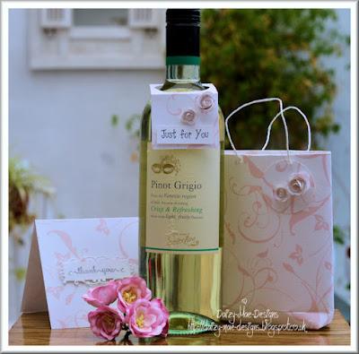 Card, bag, wine label,Blossom