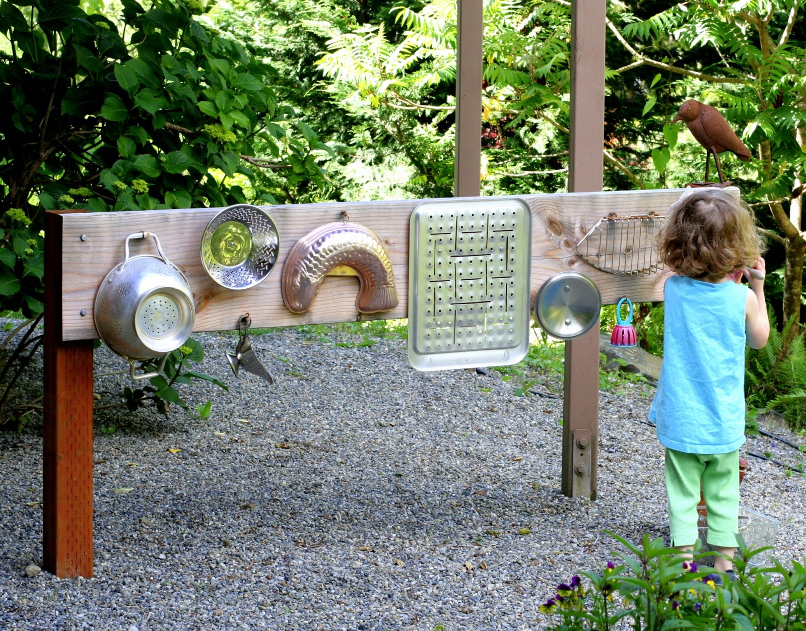 Backyard Design: DIY Outdoor Sound Wall/Music Station from Fun at Home with  Kids