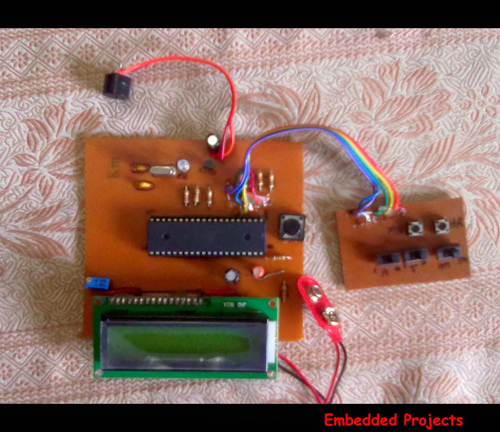 Lcd Based Digital Alarm Clock Using 89s51 Microcontroller Thermometer Circuit Ds18b20 Electronics Projects Circuits
