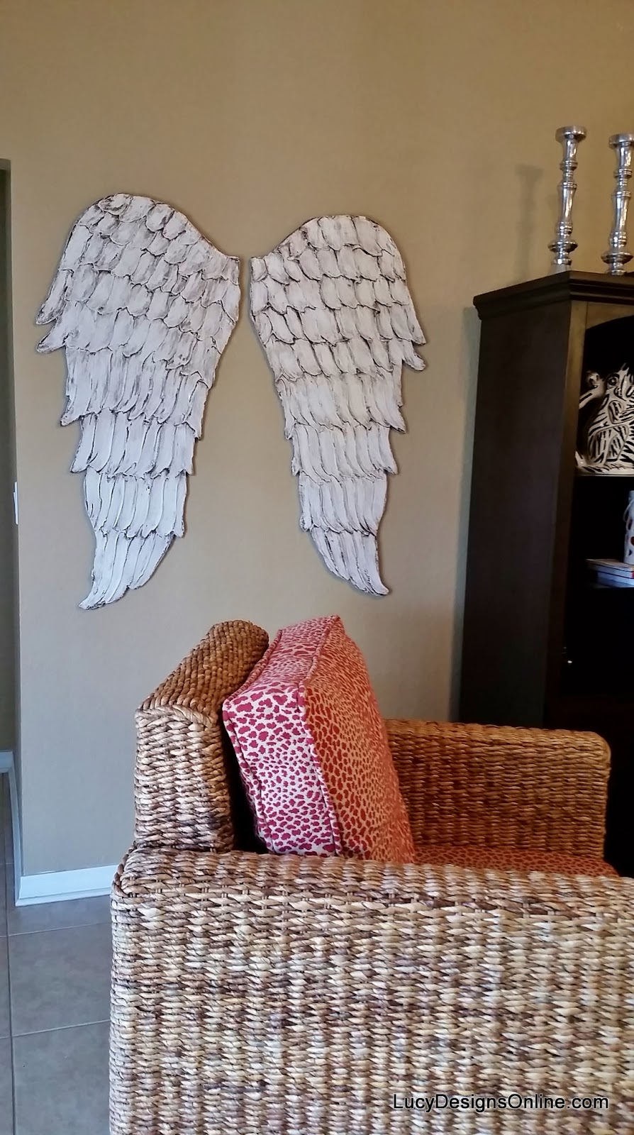 Awesome Wood Angel Wings Wall Art Part 21