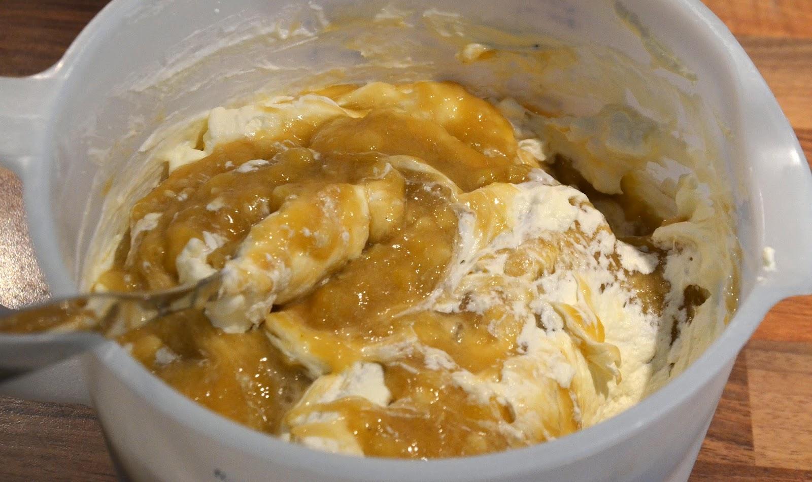 bananfyllning tårta recept