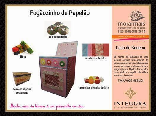 Casa de Bonecas | A cozinha feita de material reciclado