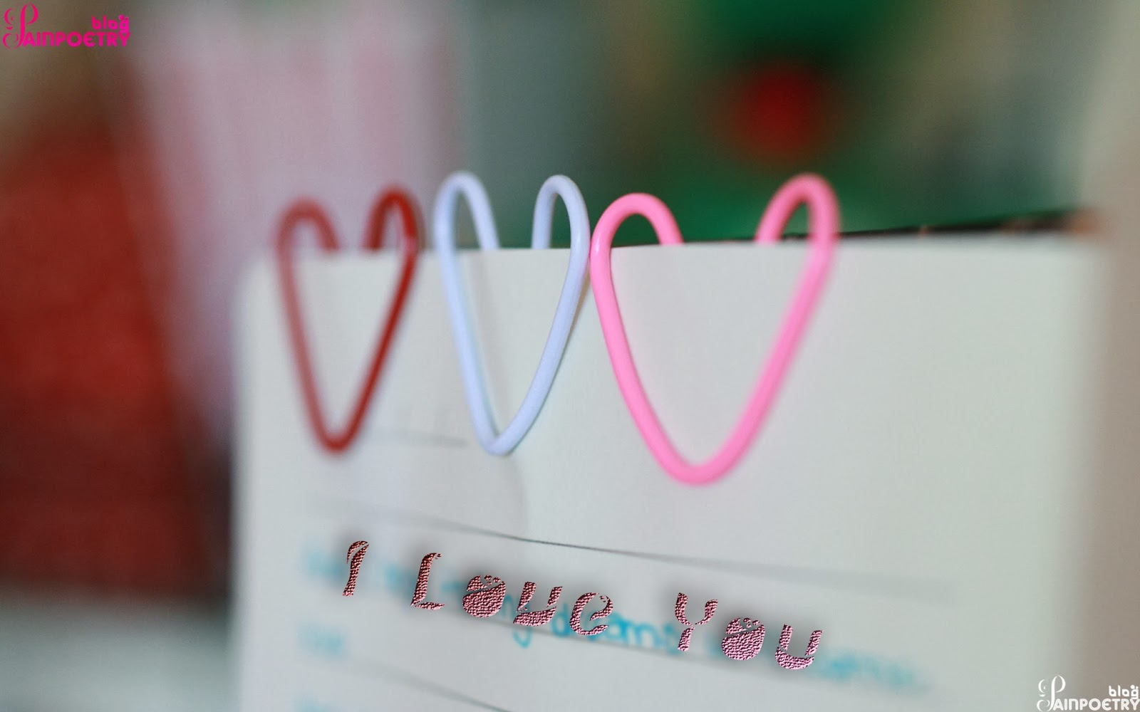 Love-Hearts-Created-By-Ribbon-With-Three-Different-Colours-Located-On-Wall-Image-HD