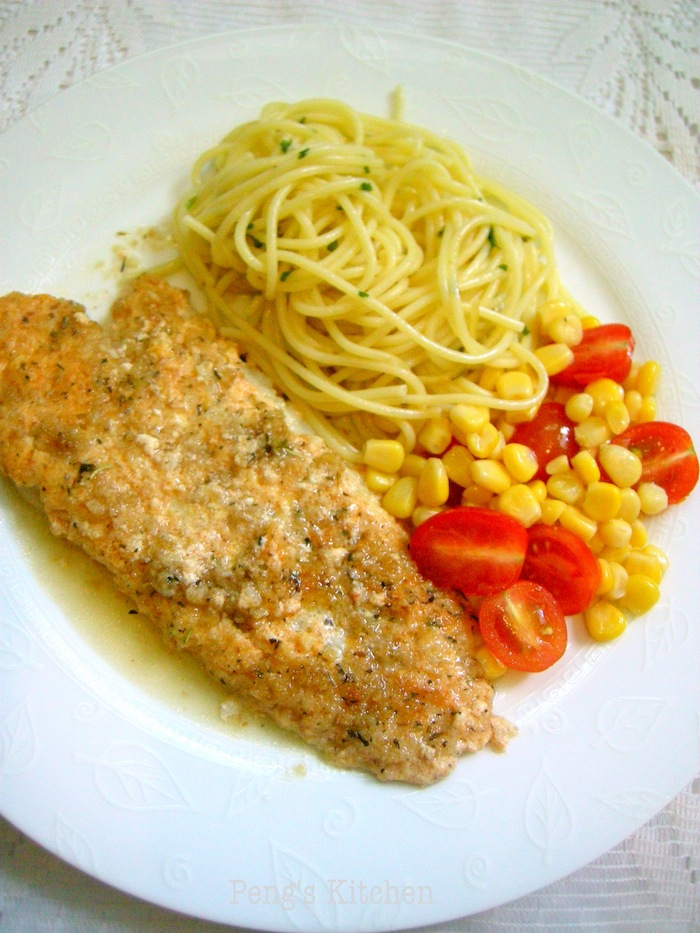 Peng 39 s kitchen baked fish with sour cream parmesan crust for Baked parmesan fish