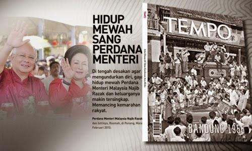 Tempo siar gaya hidup mewah Rosmah sempena kehadiran Najib ke Indonesia kenapa agaknya