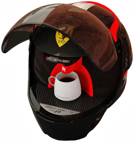 Ferrari Helmet | Espresso Machine | F1 Helmet | Ferrari Helmet concept | Custom Coffee Machine | Helmet