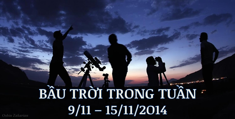 Bầu trời trong tuần từ 9/11 tới 15/11/2014