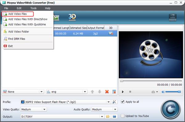 Import 2D video