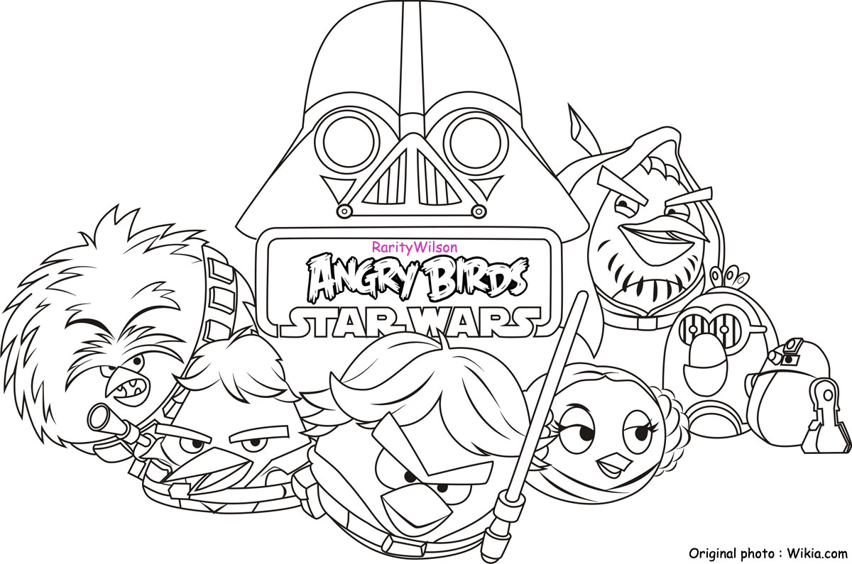 Angry Birds Star Wars Coloring Pages Team Colors Angry Birds Wars Coloring Pages Printable