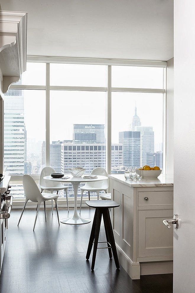 Kitchen view in Modern apartment by Tara Benet in New York