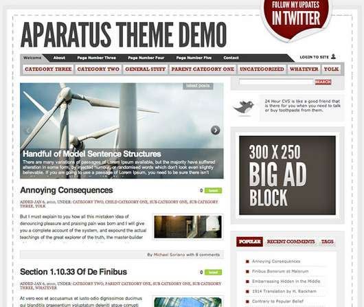 Aparatus Free Premium WordPress theme