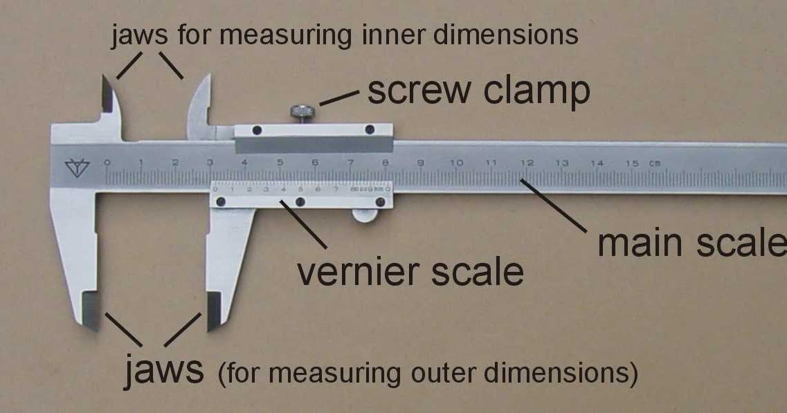 Vernier Caliper, Micrometer and other length measuring devices