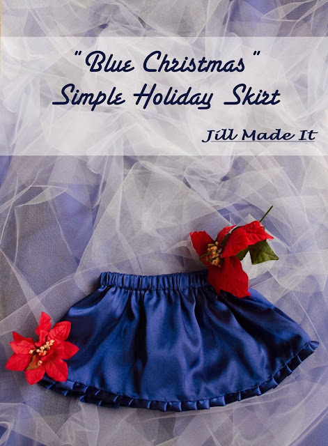"""Blue Christmas"" Simple Holiday Skirts"
