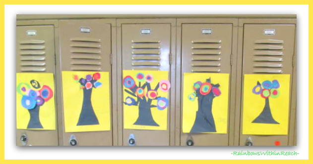 photo of: First Grade Kandinsky Blooms for Spring via RainbowsWithinReach