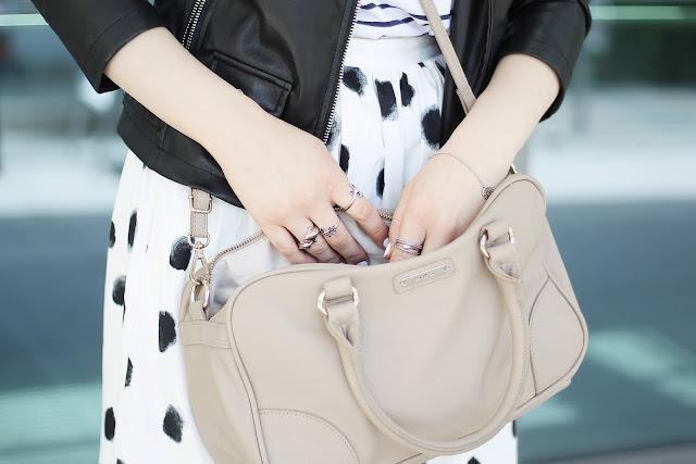 dalmatian pattern midi skirt