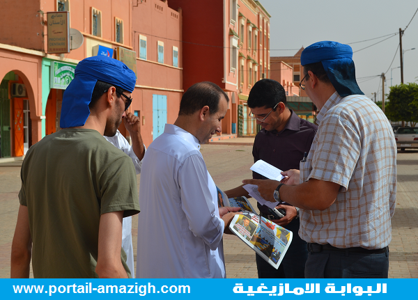 نشطاء امازيغ يستنفرون سلطات مراكش بسبب توزيعهم بيانات  لمقاطعة الاحصاء