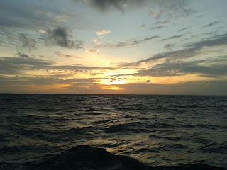 sunset off shore Phuket