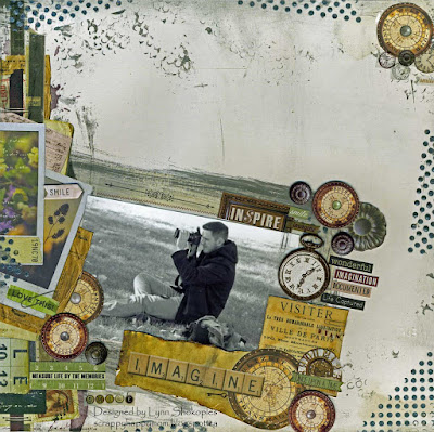 Imagine Layout by Lynn Shokoples for BoBunny featuring the Beautiful Dreamer Collection