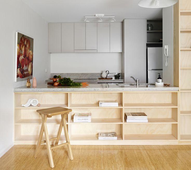 La cocina librer a ministry of deco for Cocinas pequenas abiertas al salon