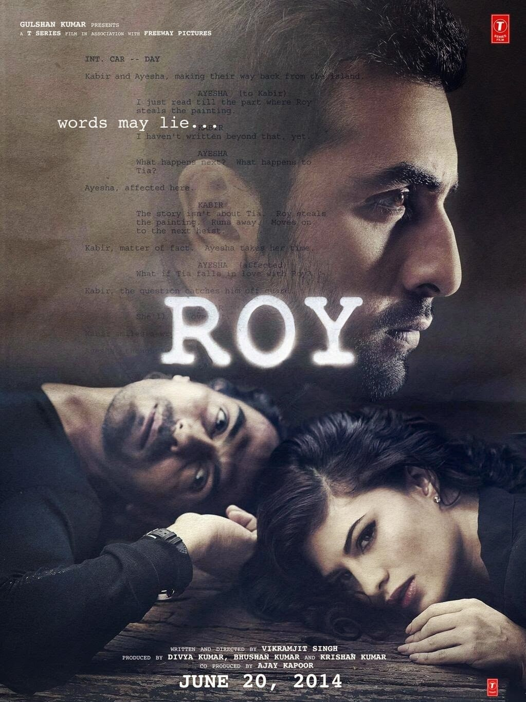Love triangle of Ranbir Kapoor, Arjun Kapoor and Jaqueline on its first poster of Roy