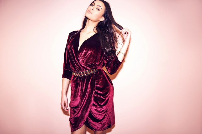 Missguided, Missguided+, launch, plus size, crushed velvet dress, long sleeved, red, burgundy, partywear