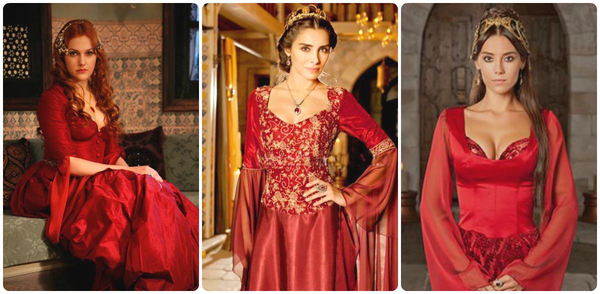 Хатидже султан в красном платье