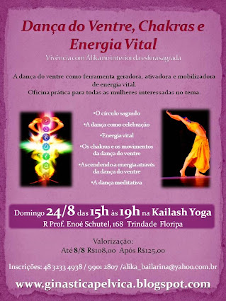 Dança do Ventre, Chakras e Energia Vital